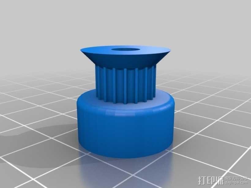 参数化的滑轮 3D模型  图1