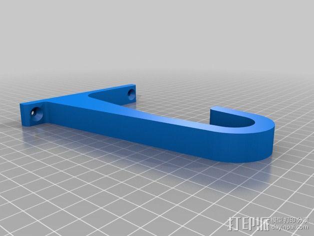线轴支架 3D模型  图4