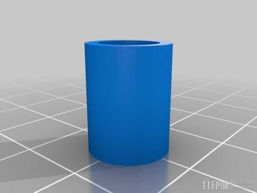 线轴支撑器 3D模型  图3