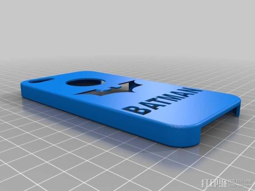 蝙蝠侠iPhone5手机外壳 3D模型  图1