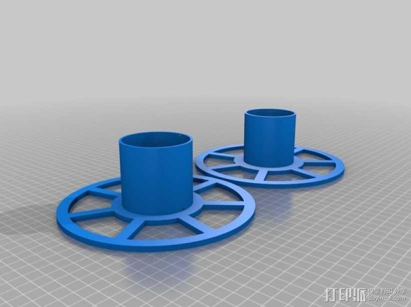 XYZ Da Vinci 打印机的线轴 3D模型  图1