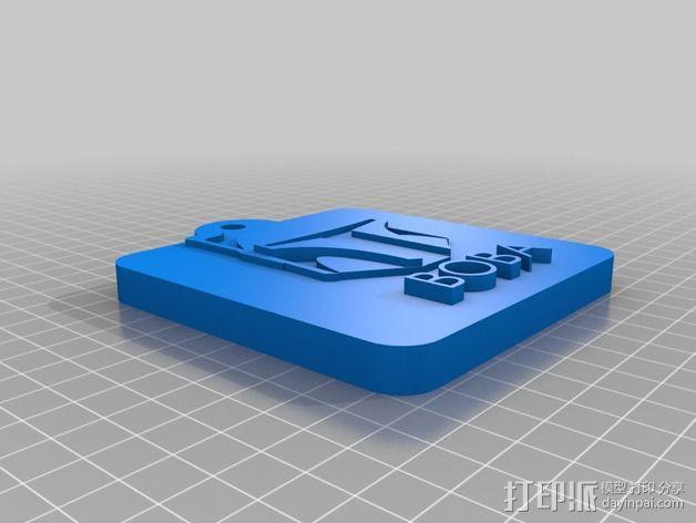 愤怒的小鸟星球大战版 钥匙扣 3D模型  图2