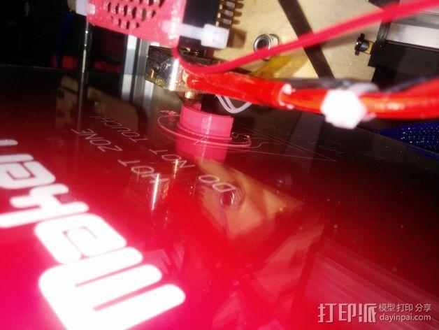 Makerfarm Prusa i3打印机构件床调整器支架 3D模型  图5