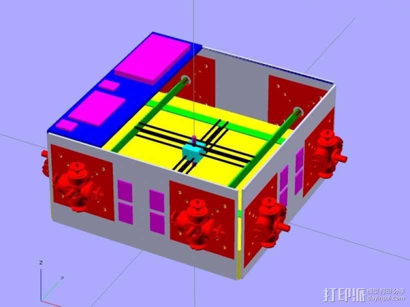 Glass Etching 3D打印机 3D模型  图1