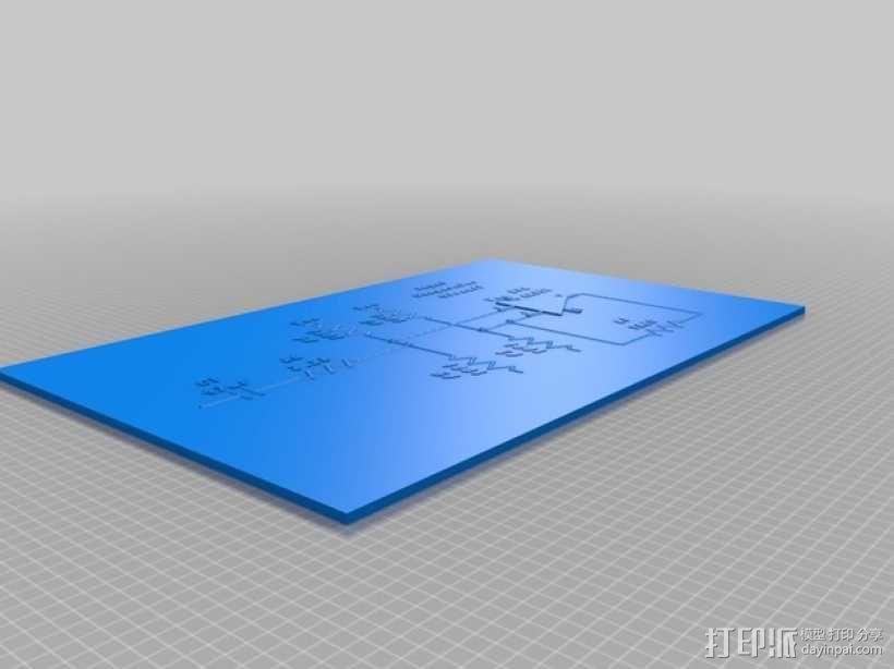 Glass Etching 3D打印机 3D模型  图3