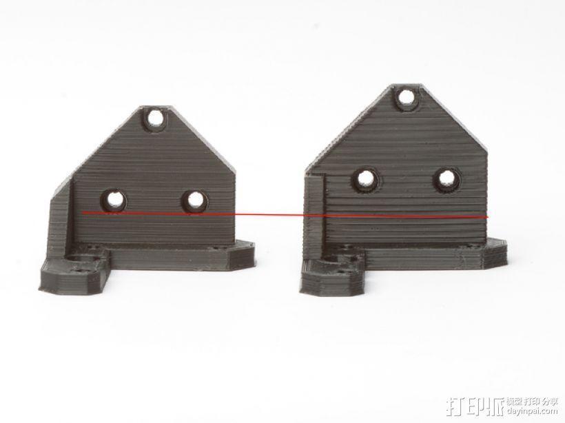 Prusa I3 打印机Z 轴的马达固定器 3D模型  图1