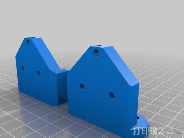 Prusa I3 打印机Z 轴的马达固定器 3D模型  图2
