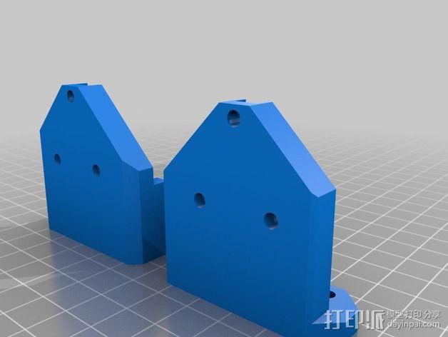 Prusa I3 打印机Z 轴的马达固定器 3D模型  图3