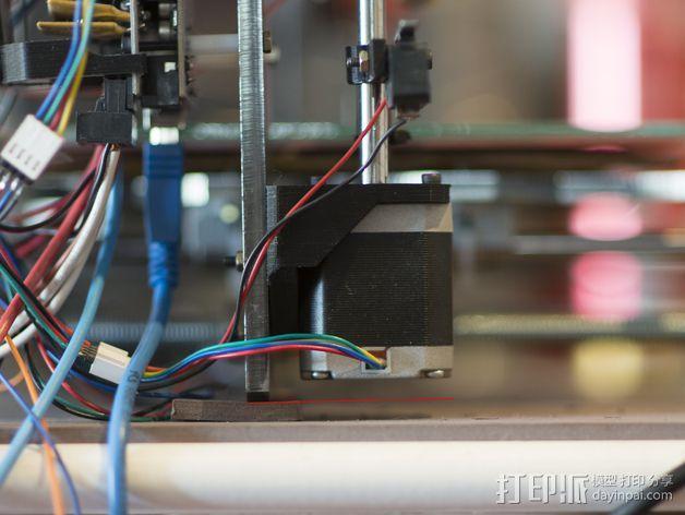 Prusa I3 打印机Z 轴的马达固定器 3D模型  图5