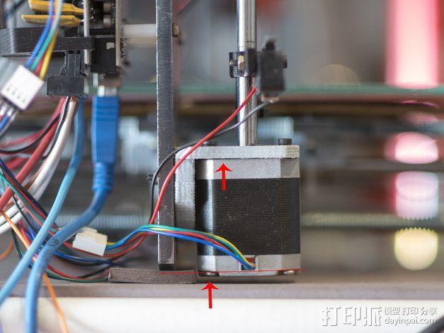 Prusa I3 打印机Z 轴的马达固定器 3D模型  图4
