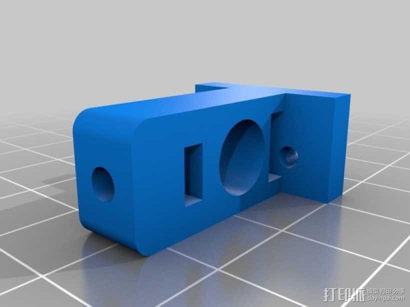 微型开关 限位开关支架 3D模型  图1
