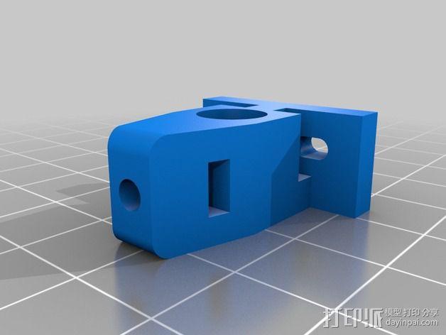 微型开关 限位开关支架 3D模型  图2