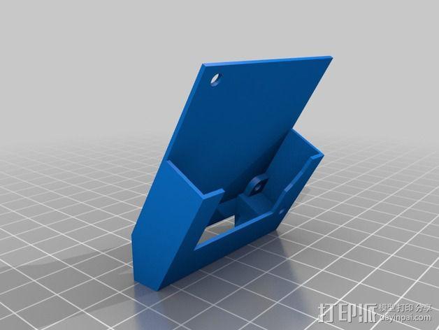 喷头散热风扇支架 3D模型  图2