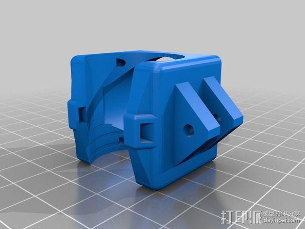 喷头散热风扇支架 3D模型  图3