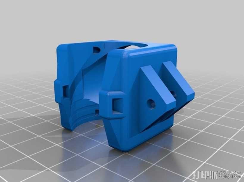 喷头散热风扇支架 3D模型  图6