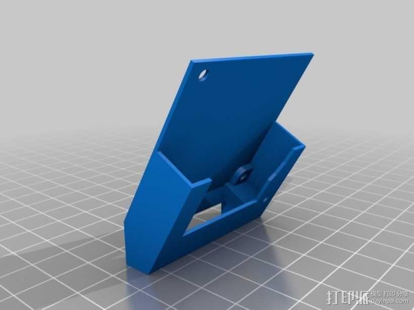 喷头散热风扇支架 3D模型  图4