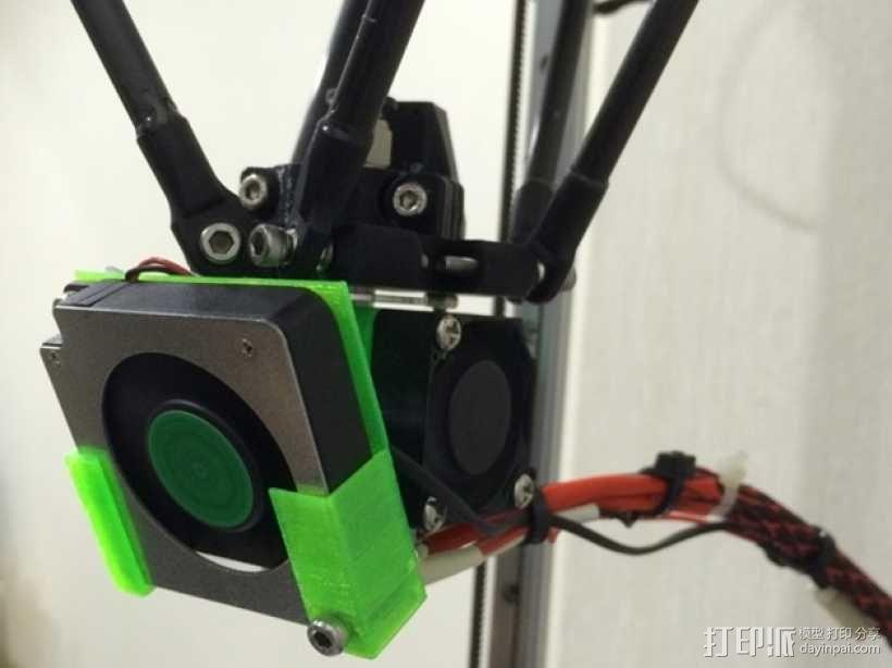 喷头散热风扇支架 3D模型  图5