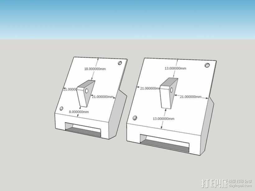 喷头散热风扇支架 3D模型  图10