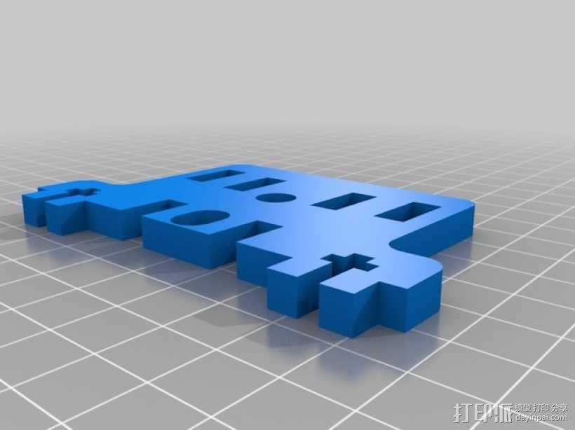 直线驱动挤出机套件 3D模型  图4