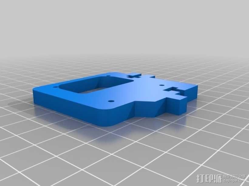 直线驱动挤出机套件 3D模型  图3
