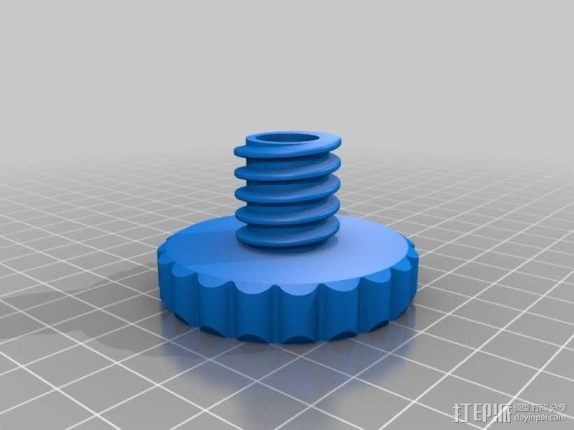 Duplicator 4X打印机的高度调节器 3D模型  图1
