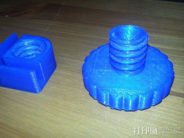 Duplicator 4X打印机的高度调节器 3D模型  图3