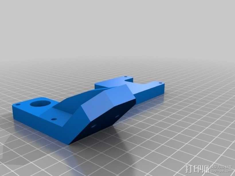 Prusa i3 打印机的显示屏支架 3D模型  图2