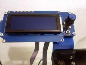 Prusa i3 打印机的显示屏支架 3D模型