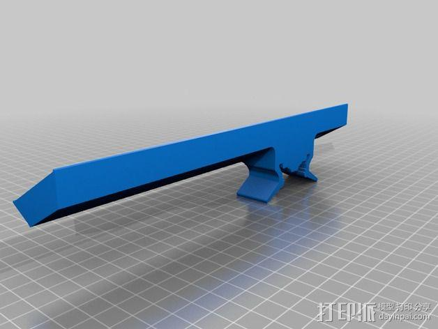3Drag K8200打印机的LED灯带固定器 3D模型  图3