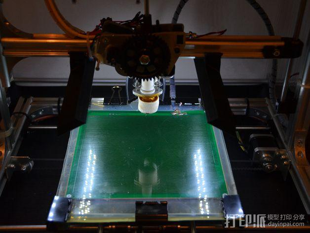 3Drag K8200打印机的LED灯带固定器 3D模型  图4
