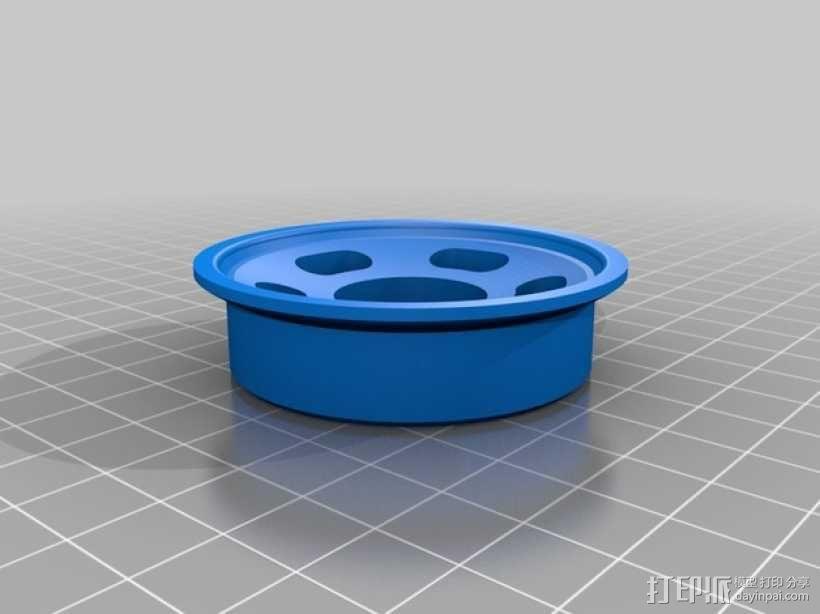 轴承槽线轴 3D模型  图2