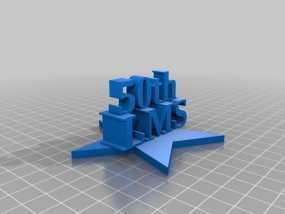 伦敦数学学会50周年纪念标志 3D模型