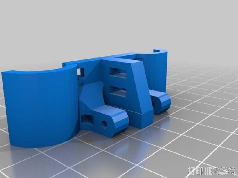轴杆固定器 GT2皮带固定器 3D模型  图2