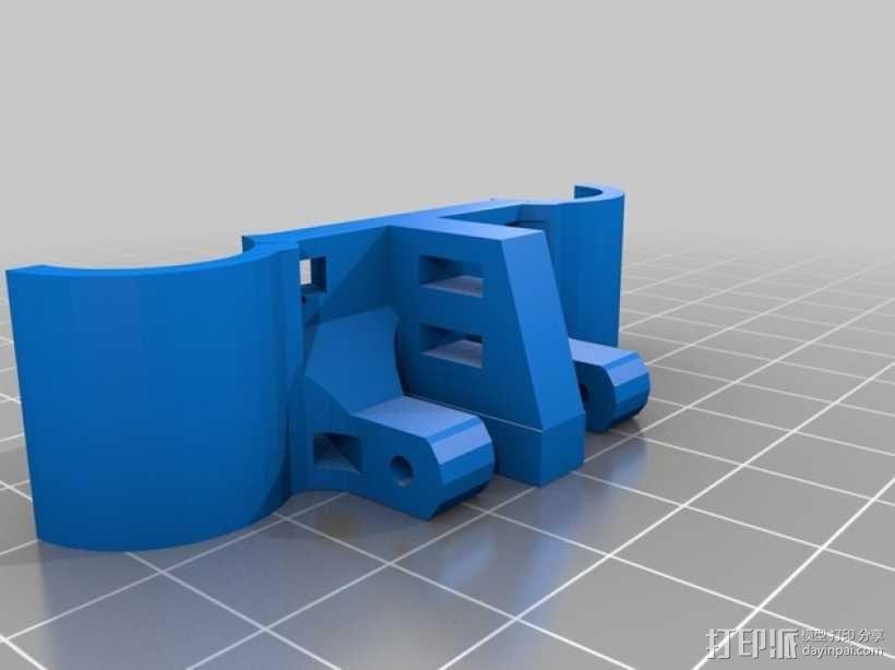 轴杆固定器 GT2皮带固定器 3D模型  图1