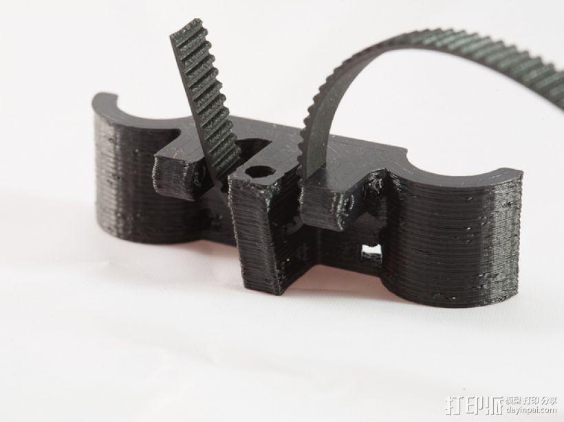 轴杆固定器 GT2皮带固定器 3D模型  图3