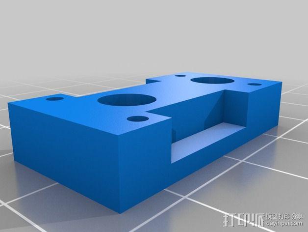 Adafruit Trinket 控制器固定架 3D模型  图6