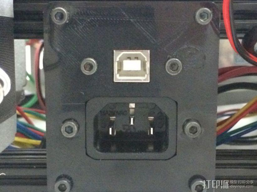打印机的电源支架 3D模型  图1