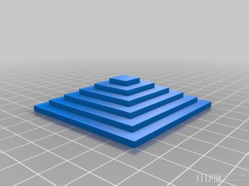 Kossel打印机校准测试 3D模型  图1