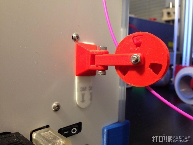 滑轮线材导线器 3D模型  图1