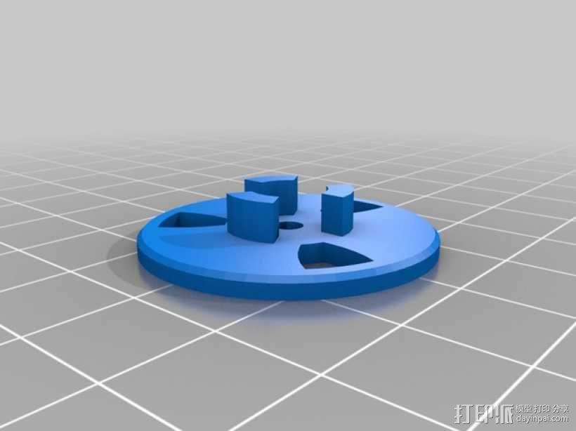 滑轮线材导线器 3D模型  图3