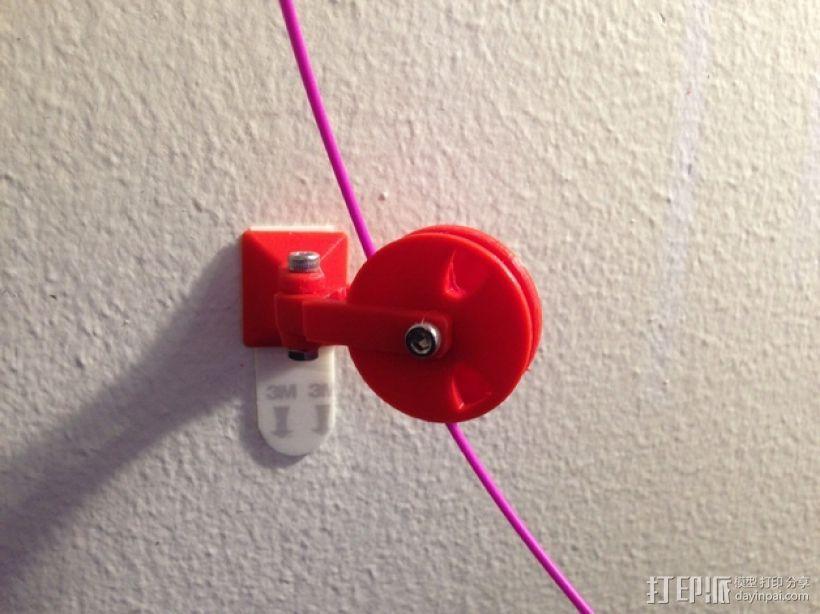 滑轮线材导线器 3D模型  图6