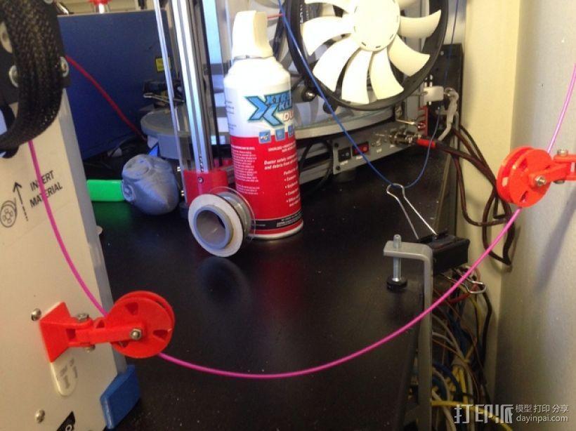 滑轮线材导线器 3D模型  图5