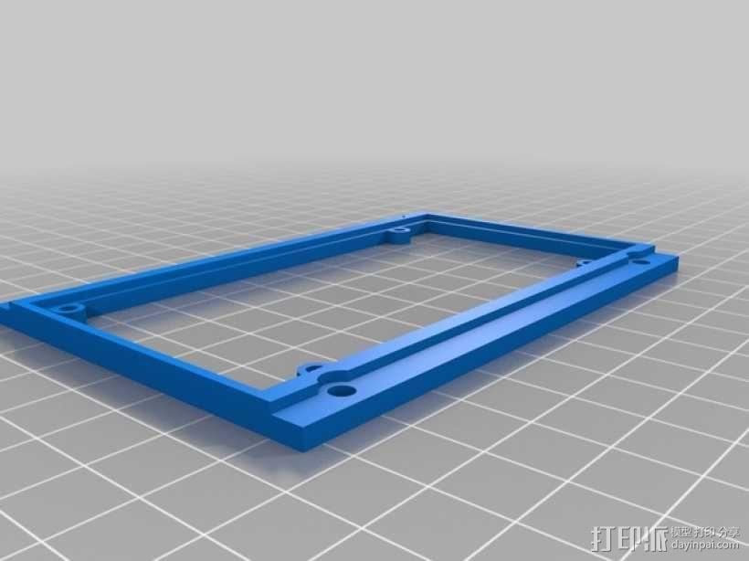 arduino mega电路板支撑架 3D模型  图2
