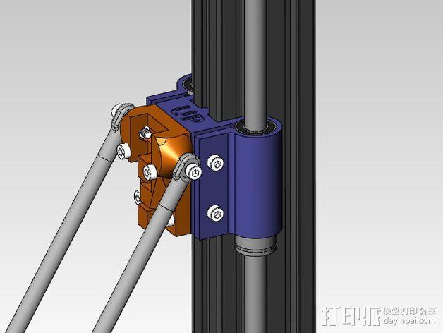 线性轴承支架 3D模型  图4