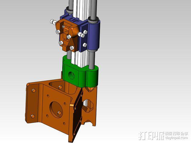 线性轴承支架 3D模型  图1
