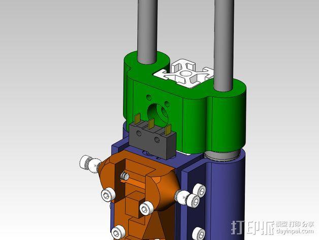 线性轴承支架 3D模型  图2