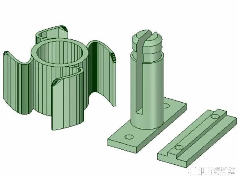 线轴支撑架 3D模型  图1