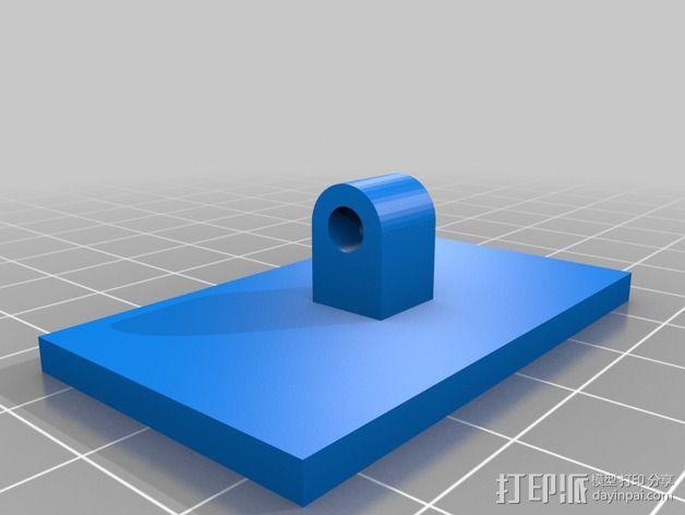 12V LED灯安装框架 3D模型  图2