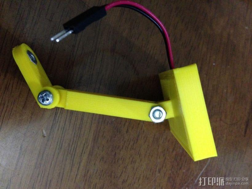 12V LED灯安装框架 3D模型  图1