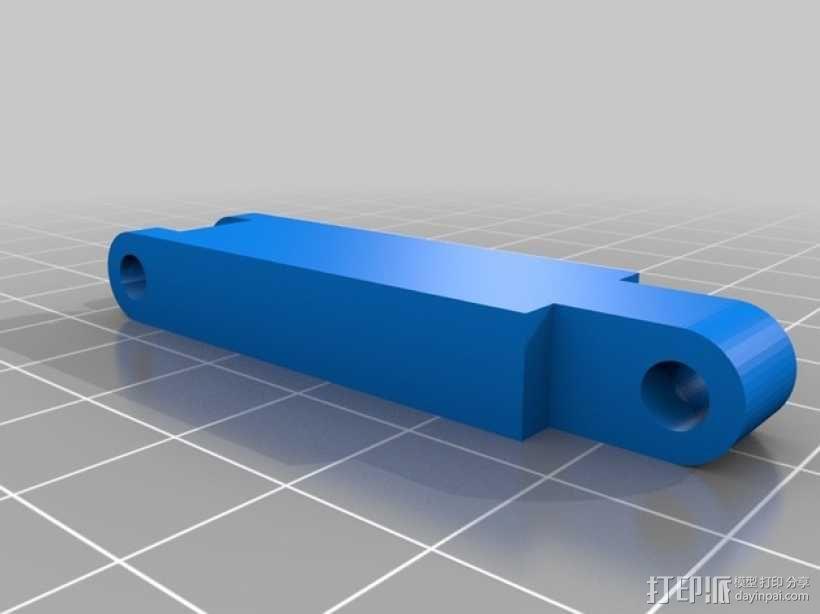 12V LED灯安装框架 3D模型  图4